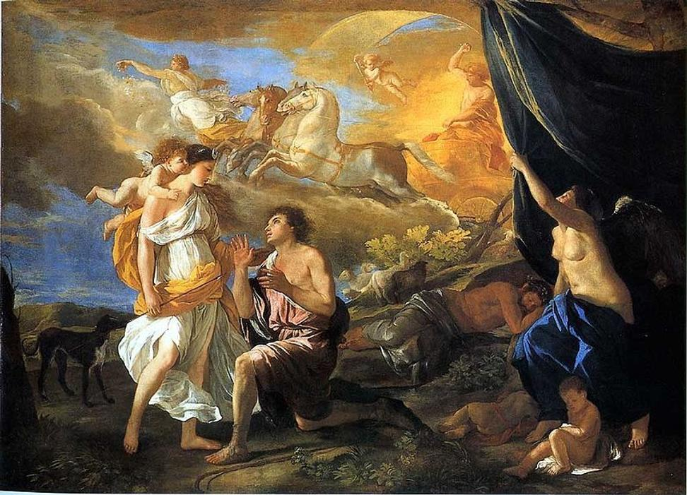 Selene and Endymion by Nicolas Poussin.