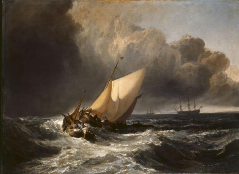 Turner's 1801 masterpiece The Bridgewater Sea Piece - which Harry Hyams had loaned anonymously to the National Gallery.