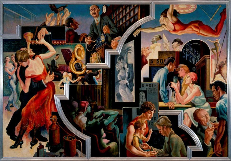 Axa equitable donates thomas hart benton 39 s epic 1920s for America today mural