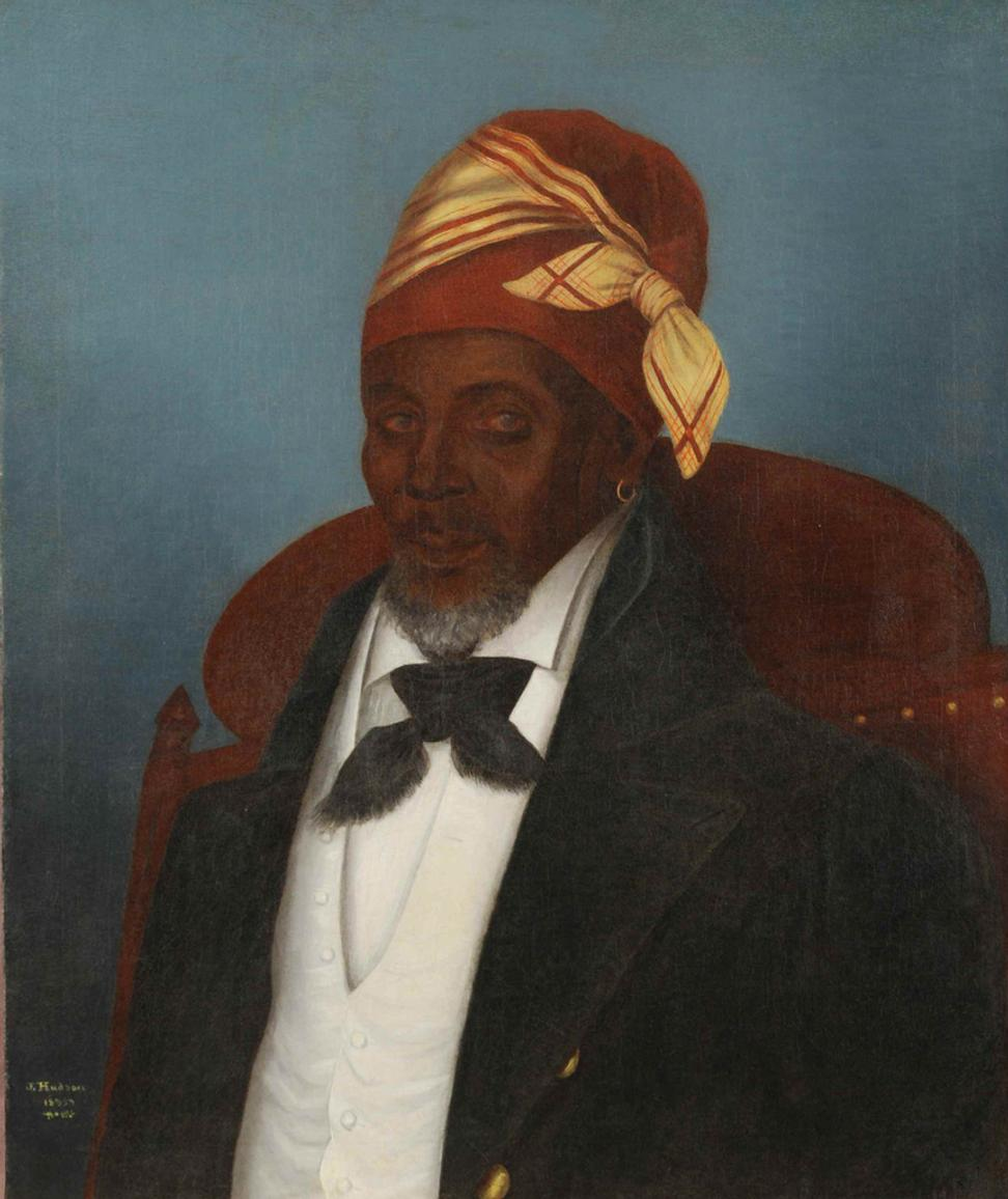 Julien Hudson, 1811−1844 American, Portrait of a Free Man of Color, 1835, oil on canvas, private collection.