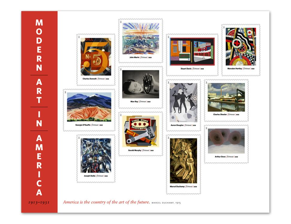 Modern Art in America 1913-1931 is a 2013 Forever stamp collection from the USPS.