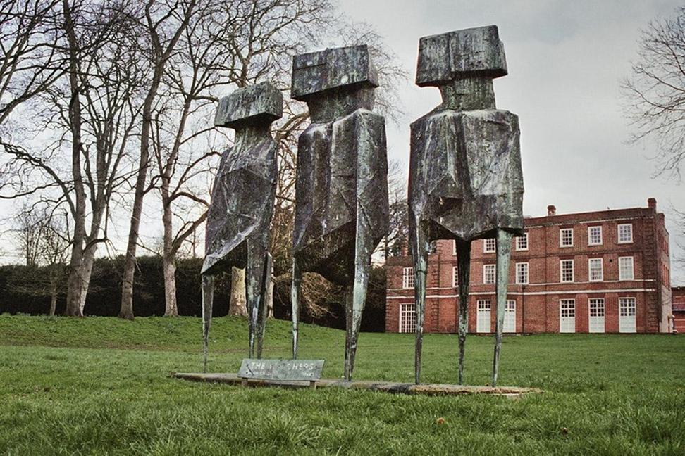 Stolen - The Watchers, Lynn Chadwick, 1960, Roehampton University, South West London © Historic England