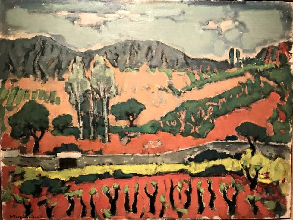 Jannis Spyropoulos, Vineyard, 1952.  The Vorres Museum, Paiania, Attiki, Greece.