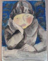 Wilhelm Lachnit's Girl at table from the Gurlitt art trove.