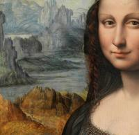Detail of the Prado's copy of the Mona Lisa currently in conservation (Photo: © Museum Nacional del Prado).