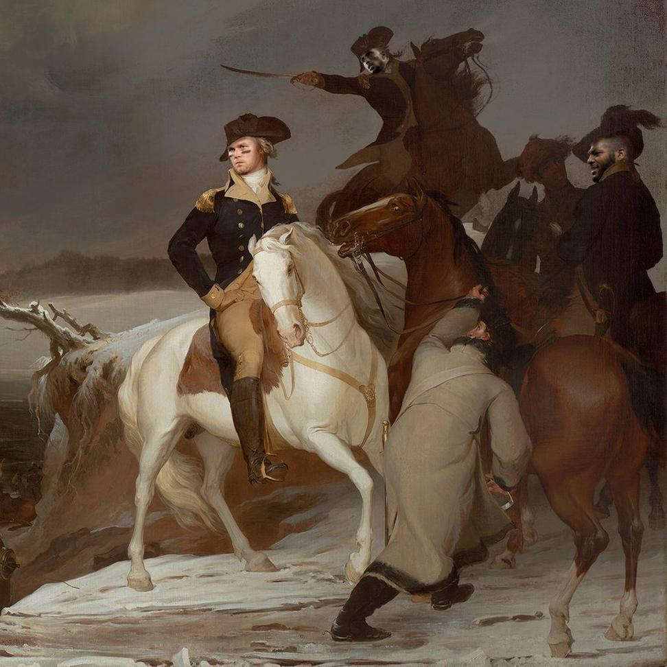 Is that Tom Brady as George Washington? Via Twitter @mfaboston