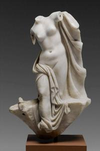 Statuette of Aphrodite emerging from the sea, Greek or Roman, 1st century BC or 1st century AD.