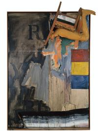 Jasper Johns, Watchman, 1964.  Oil on canvas with objects (two panels).  215.9 x 153 cm.  The Eli and Edythe L.  Broad Collection © Jasper Johns / VAGA, New York / DACS, London 2017.