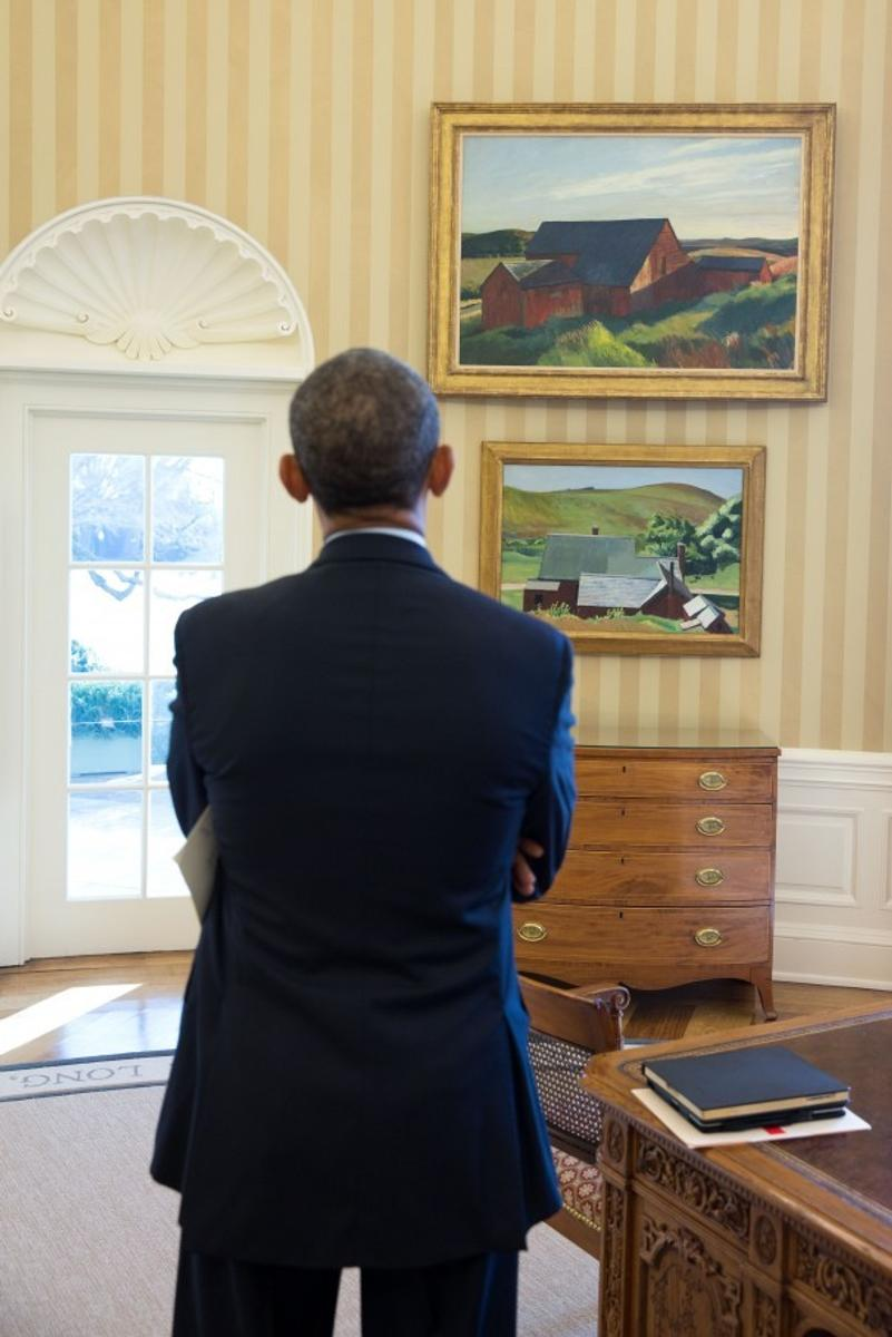 oval office paintings. President Obama Views Cobb\u0027s Barns, South Truro, Top, And Burly House, Oval Office Paintings Art Fix Daily