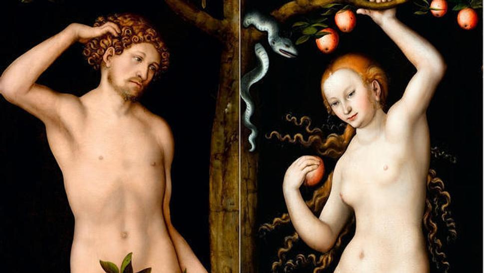 Detail From Lucas Cranach The Elders 1530 Paintings Adam