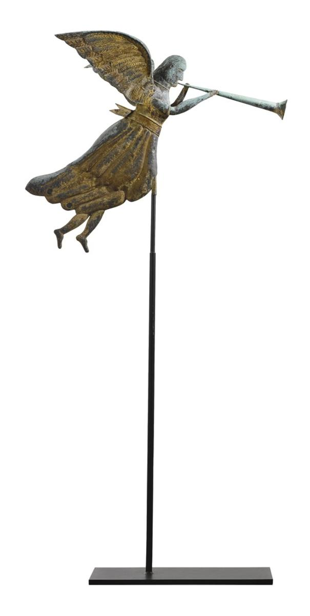 Angel Gabriel weathervane from The American Folk Art Collection of Stephen and Petra Levin sold for $1.3 million.