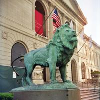 Edward Kemeys's lion statue outside the Art Institute of Chicago