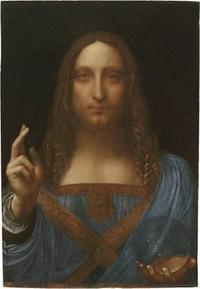 """Salvator Mundi,"" a recently authenticated work by Leonardo da Vinci."