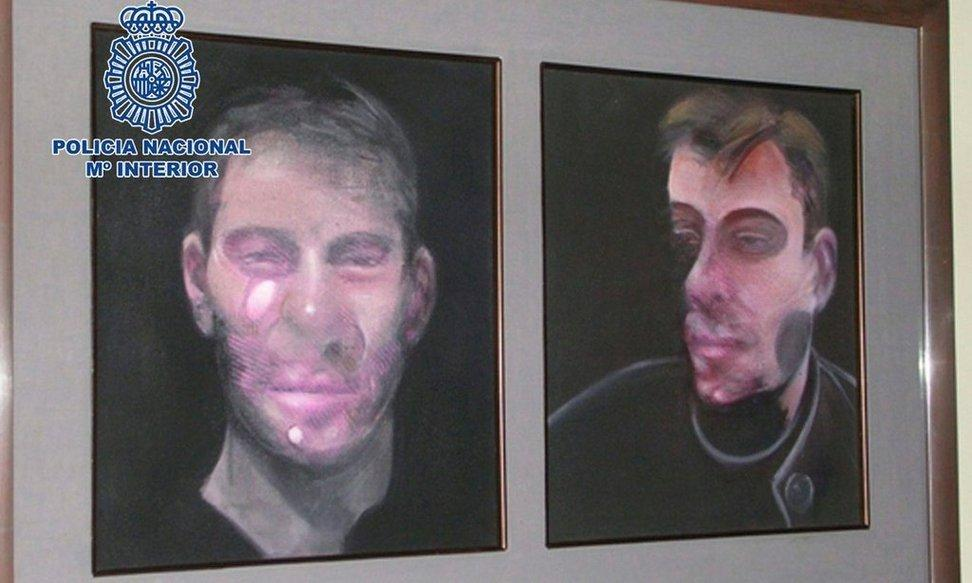 Image of stolen Francis Bacon works.