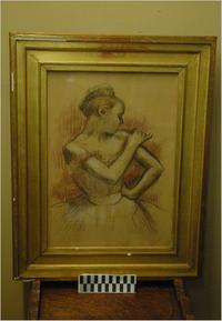 A Degas Drawing that was reported missing or stolen and recovered by police in the Wildenstein Institute vault.