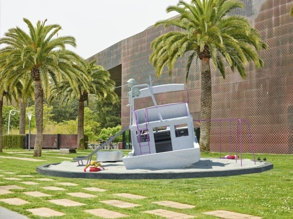 Rendering of For Lazy Lobster, part of the Artscapes series at the de Young museum in San Francisco this summer, by Cosima von Bonin, 2018.  Courtesy the artist and Petzel Gallery.