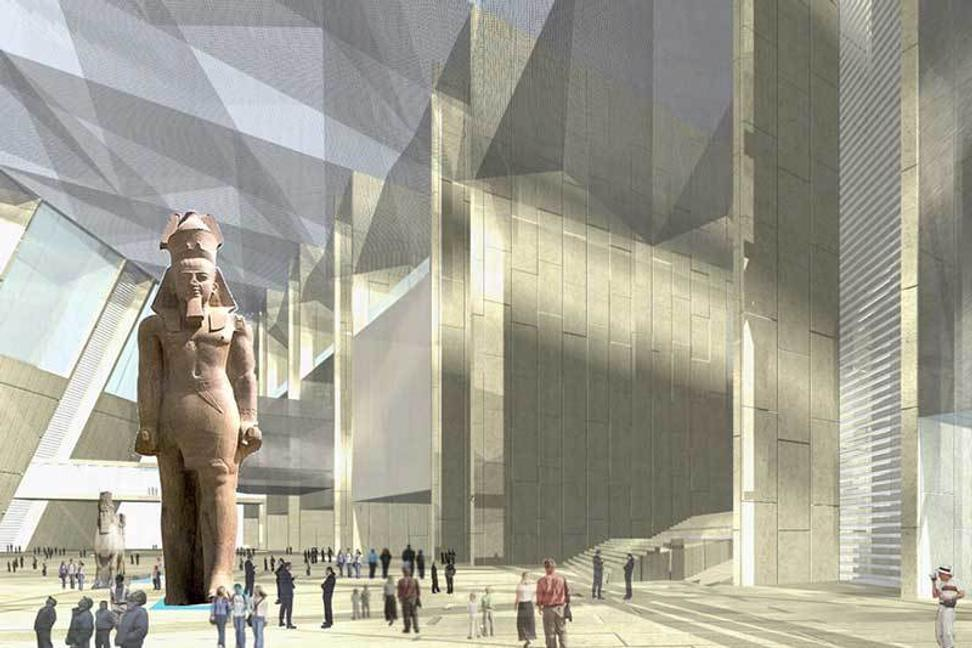 Interior rendering, Grand Egyptian Museum