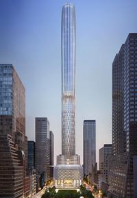 Rendering for 666 Fifth Avenue