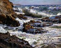 Southern California Coast by George Symons (1861-1930) Oil on canvas – 40 x 50 inches.  The Irvine Museum Collection at the University of California, Irvine
