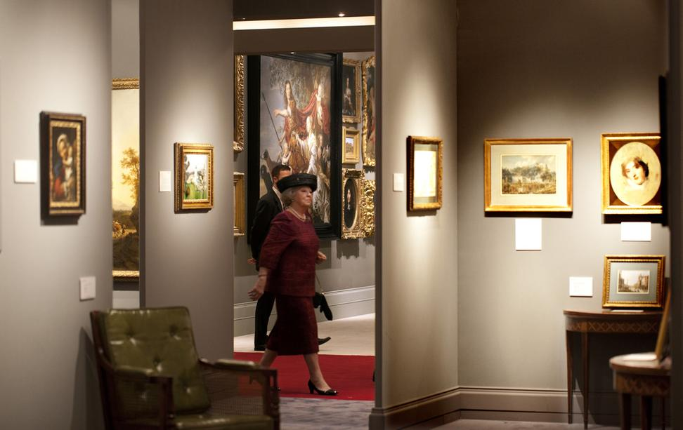 Queen Beatrix of the Netherlands visits TEFAF Maastricht 2012.  The Royal visit was part of a series of events marking the Silver Jubilee of TEFAF Maastricht.  Photo: Harry Heuts