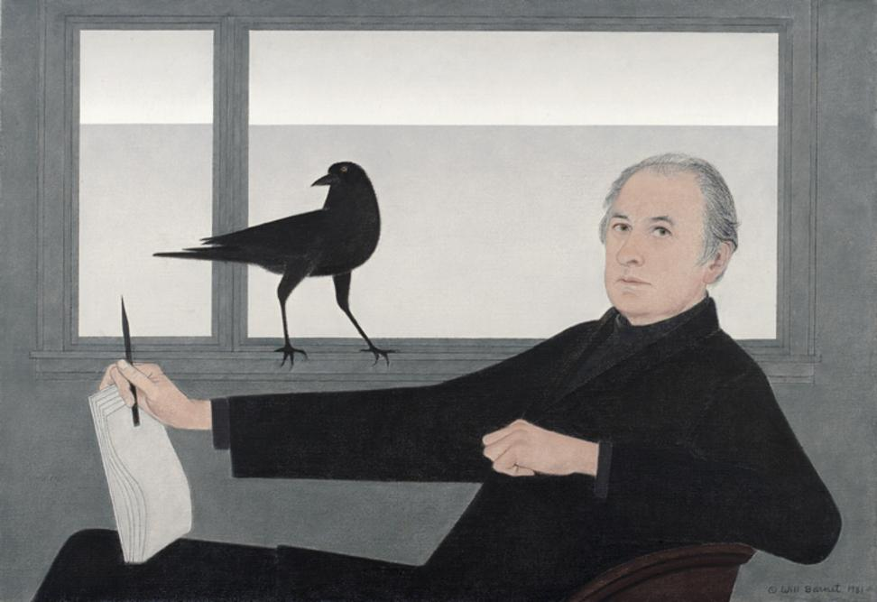 "Will Barnet, Self-Portrait, 1981, was part of the exhibition ""Will Barnet at 100"" – the artist's first New York museum retrospective – at the National Academy Museum on Sept.  16-Dec.  31, 2011.  Barnet received a 2011 National Medal of Arts on Feb.  13, 2012"