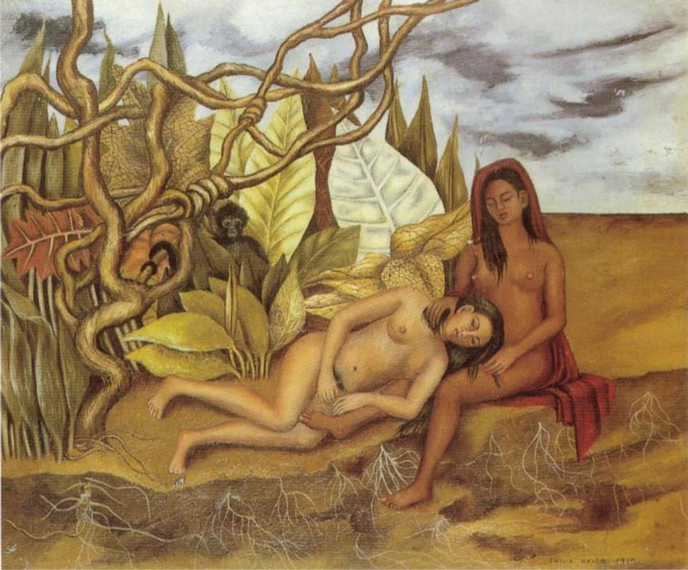 """Two Nudes in the Forest (The Land Itself)"" by Frida Khalo fetched a record $8million"