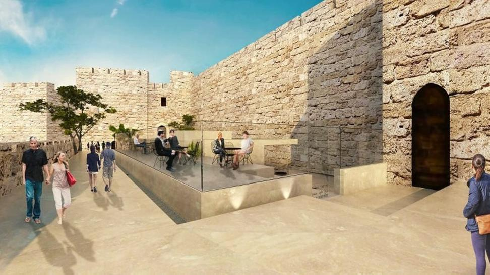 Rendering of the renovated entrance for Tower of David Museum.