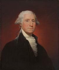 Gilbert Stuart, George Washington (Vaughan type), 1795, oil on canvas, sold for $11.6 million, an auction record for the artist.
