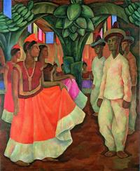 Dance in Tehuantepec (Baile in Tehuantepec), 1928 by Diego Rivera