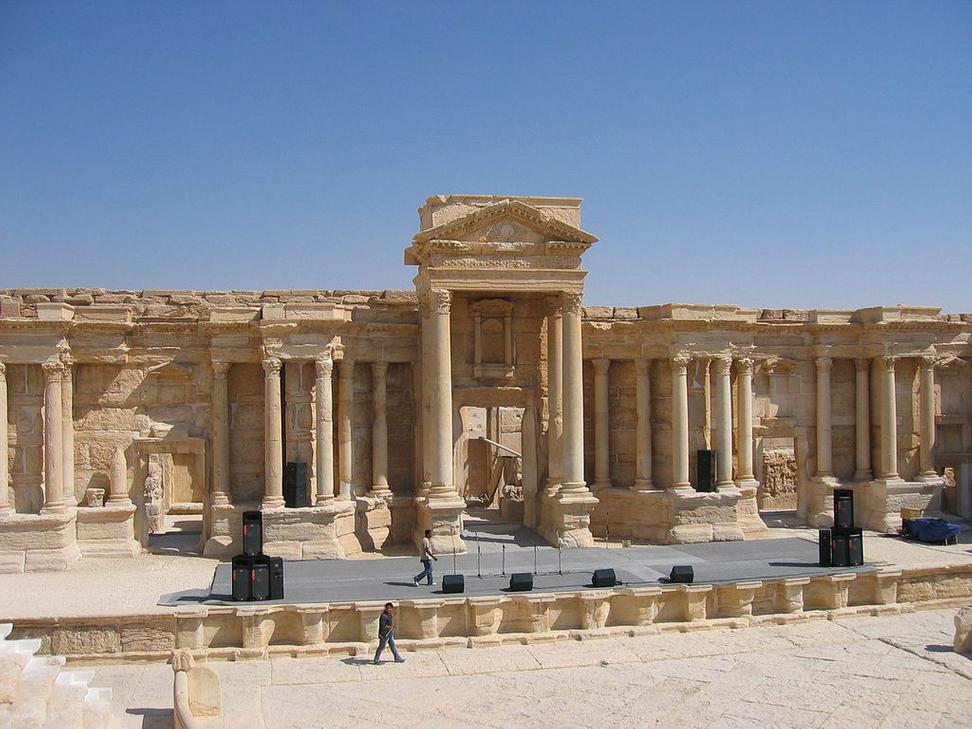 Stage of the Amphitheater, Palmyra