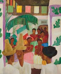 Diego Rivera, The Rivals, 1931, oil on canvas, sold for $9.76 million.