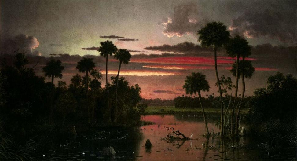 At Sotheby's, Martin Johnson Heade, The Great Florida Sunset, 1887.  Estimate $7,000,000-10,000,000