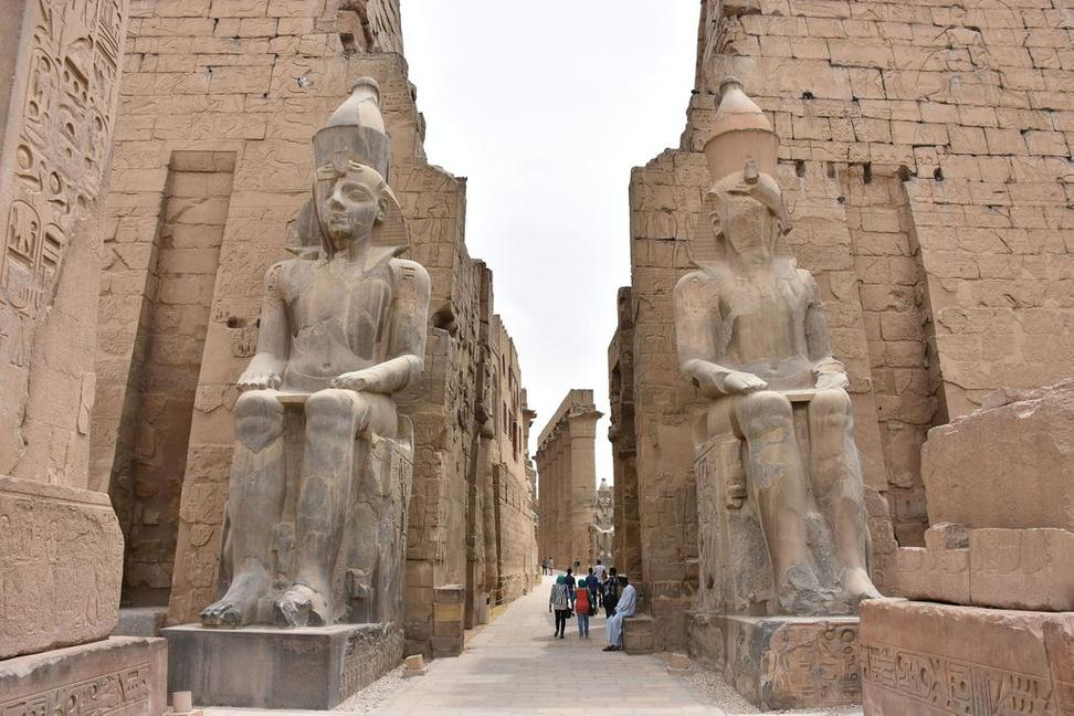 Entrance to Temple of Luxor in Egypt