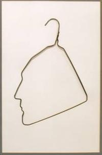 Ai Weiwei Profile of Marcel Duchamp in a Coat Hanger, 1980s Wire, 26.75 x 20 inches.  Star Group