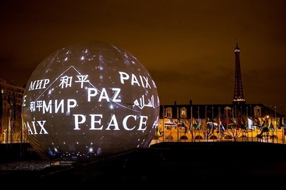 "Mosaic of Change (MOC), ""Peace,"" was unveiled for UNESCO's 70th Anniversary Celebration in Paris in 2015."
