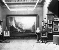 The Bierstadt and a collection of Hudson River School artworks entered the St.  Johnsbury Athenaeum in the 1870s.