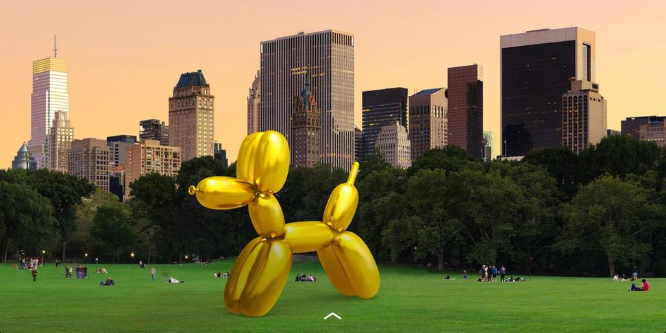 Jeff Koons teams up with Snapchat