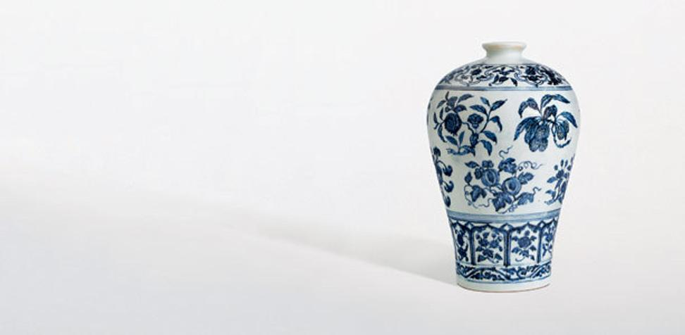 A Ming dynasty porcelain vase sold for HK$167.8 million ($21.6 million) including buyer's premium, at a Sotheby's auction in Hong Kong.