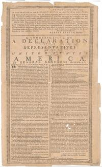 Copy of the Declaration of Independence, printed by John Holt, July 9, 1776.