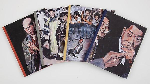 "Catalogue cover images for Bob Dylan's ""The Asia Series"" at Gagosian Gallery."
