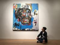 Twitter image of Yusaku Maezawa with the Basquiat.