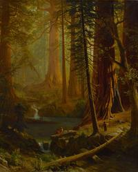 Albert Bierstadt, Giant Redwood Trees of California, circa 1874.