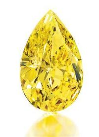 Christie's Oct.  18 sale in New York includes The Vivid Yellow, a pear-shaped fancy vivid yellow diamond of 32.77cts.  Estimate: US$ 6,000,000-8,000,000.