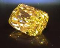 This 43.51 Carat Fancy Intense Yellow Internally Flawless Diamond is offered in a government-seizure auction by Bid4Assets.com for the US Marshals through Thursday.