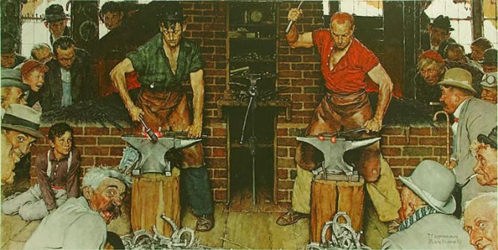 Norman Rockwell, Shaftsbury Blacksmith Shop.