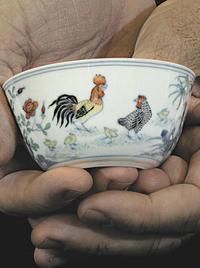 A doucai chicken cup, produced during China's Yongzheng rein, (1723- 1735), cost $400,000.