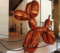 """Balloon Dog (Orange),"" from an edition of five, is owned by the Brant Foundation.  Photographer: Paul Goguen/Bloomberg"