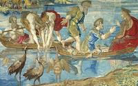 The Miraculous Draught of Fishes by Raphael, tapestry version from the Vatican Museum.