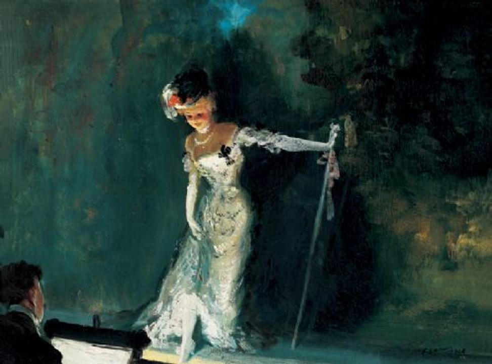 Everett Shinn 1876-1953, Revue, 1908.  Oil on canvas, 18 × 24 in.  (45.72 x 60.96 cm).  Whitney Museum of American Art, New York; Gift of Gertrude Vanderbilt Whitney 31.346.  Photograph by Geoffrey Clements