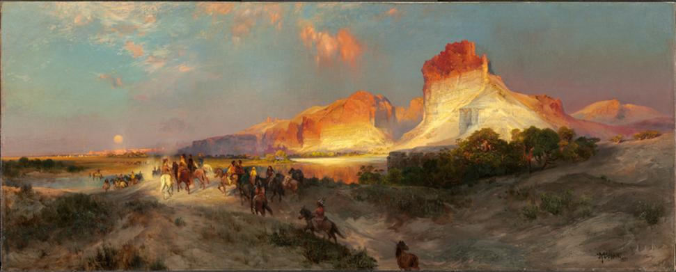Thomas Moran, Green River Cliffs, Wyoming, 1881, oil on canvas National Gallery of Art, Washington, Gift of the Milligan and Thomson Families